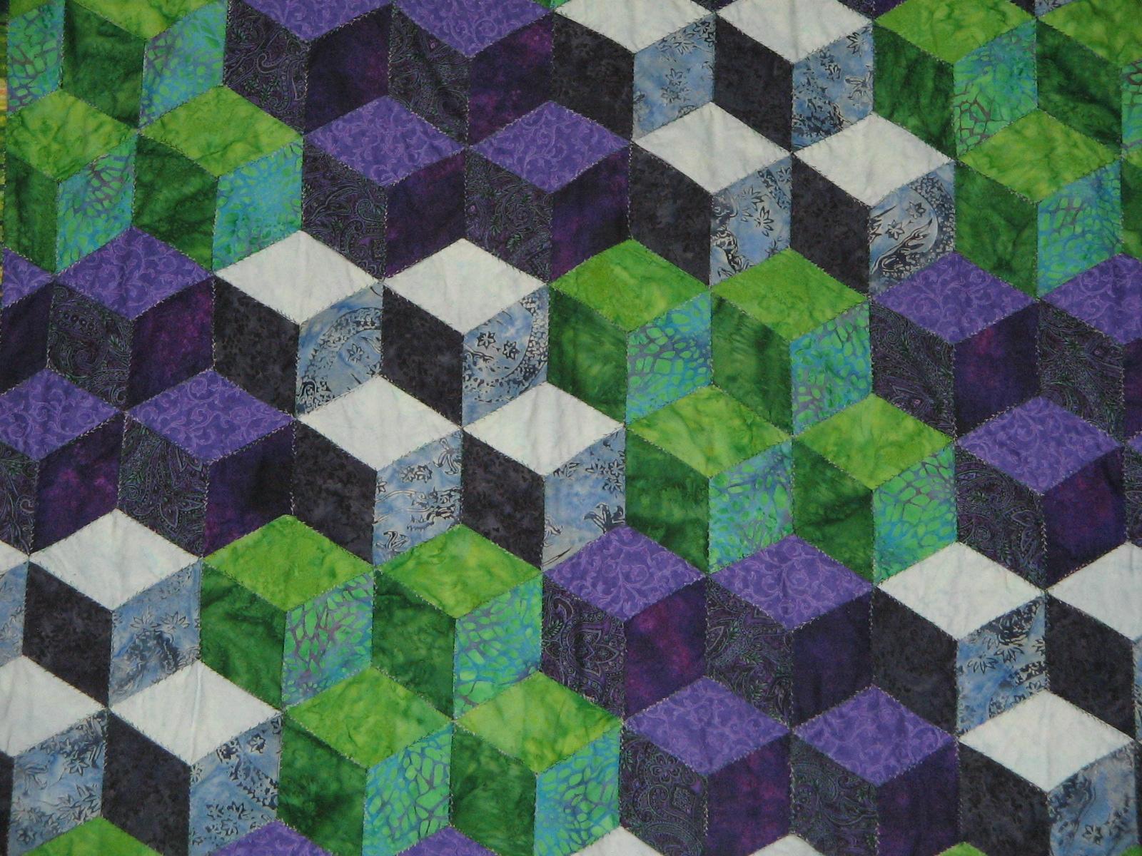 Free Tumbling Block Quilt Pattern Design Patterns