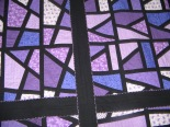 Purple Stained Glass Windows - panel